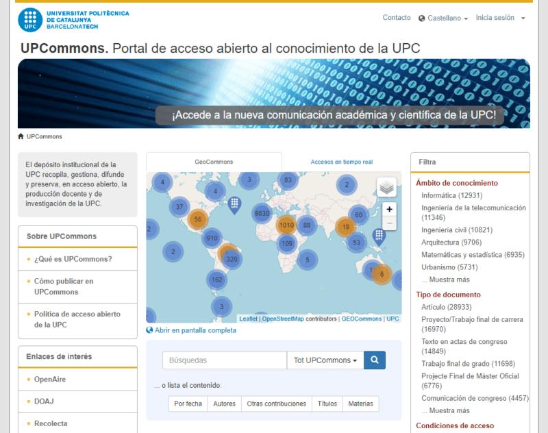 Portal de acceso abierto al conocimiento de la UPC - UPCommons