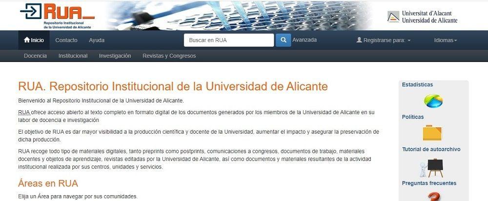 RUA. Repositorio Institucional de la Universidad de Alicante
