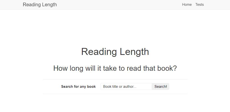 Reading Length herramienta tiempo leer un libro