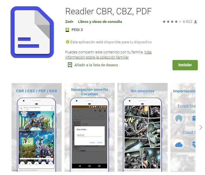 Readler aplicaciones lectura