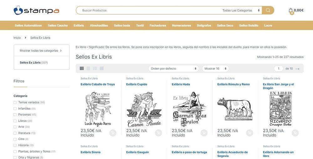 Stampa sellos exlibris