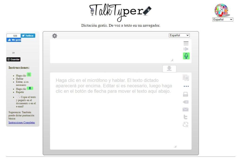 TalkTyper voz a texto