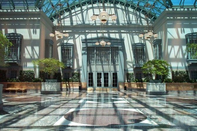 Terraza cubierta para la celebración de bodas en la Biblioteca Pública de Chicago
