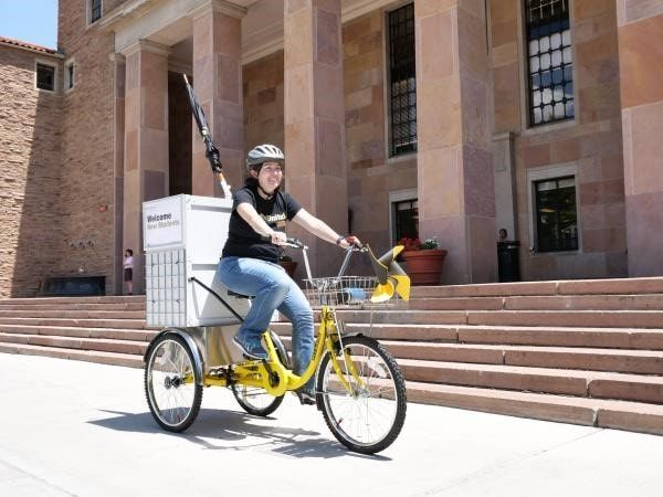 University Libraries rolls out bike cart: InfoMotion