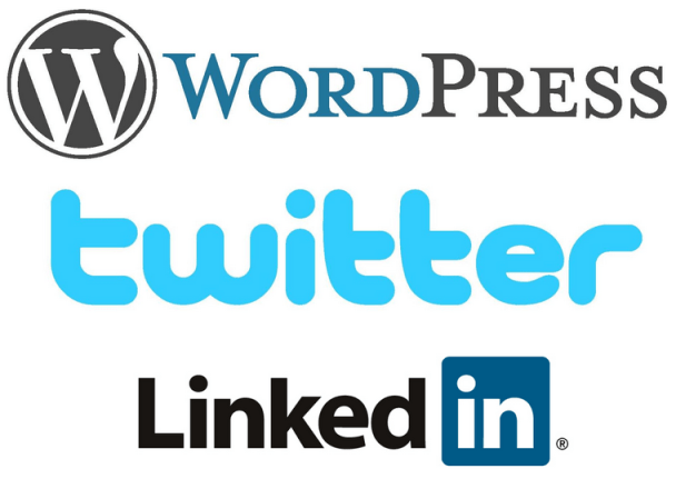 WordPress, Twitter y LinkedIn