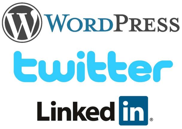WordPress, Twitter y LinkedIn