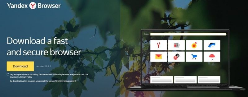 Yandex Browser navegador web