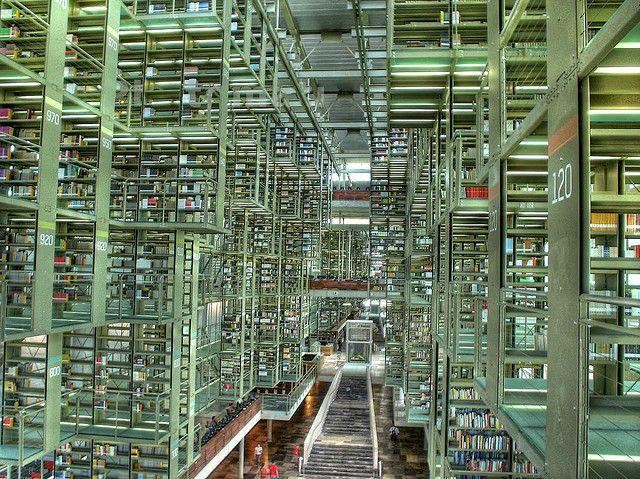 Vista de la Biblioteca Vasconcelos by Eneas