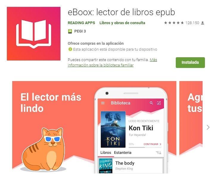 eBoox es una popular aplicación móvil para leer libros electrónicos