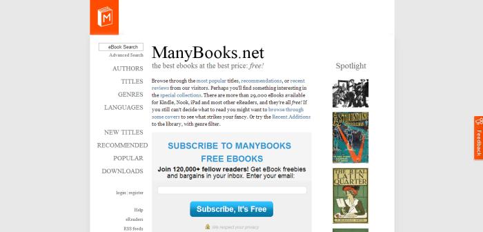 ManyBooks.net