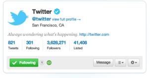 Mini perfiles Twitter