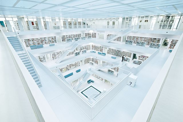 Library Stuttgart - modern architecture made in Germany