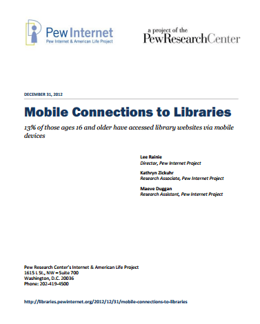Mobile Connections to Libraries