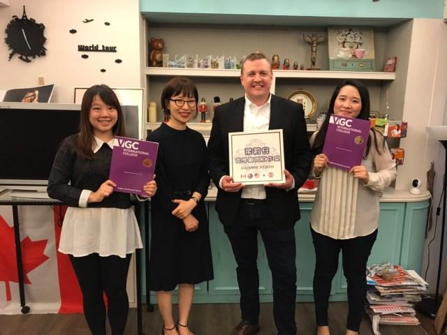 溫華語言學校-VGC學校拜訪茱莉安遊學