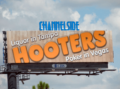 Hooters Liquor in Tampa - Poker in Vegas Billboard