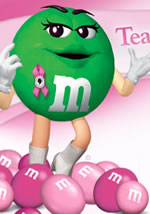 Pink M&M's support Breast Cancer Awareness