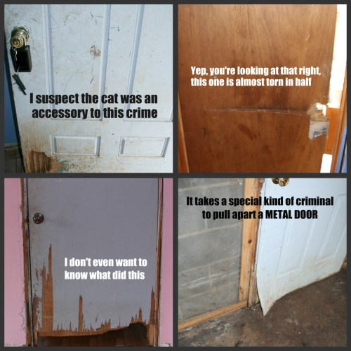 Door crime collage