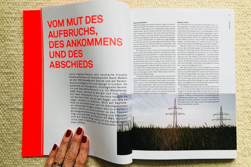 """""""Vom Mut des Aufbruchs, des Ankommens und des Abschieds"""" – Beitrag in der FORMAT"""