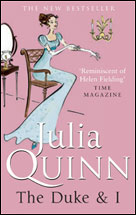 UK cover of The Duke and I by Julia Quinn
