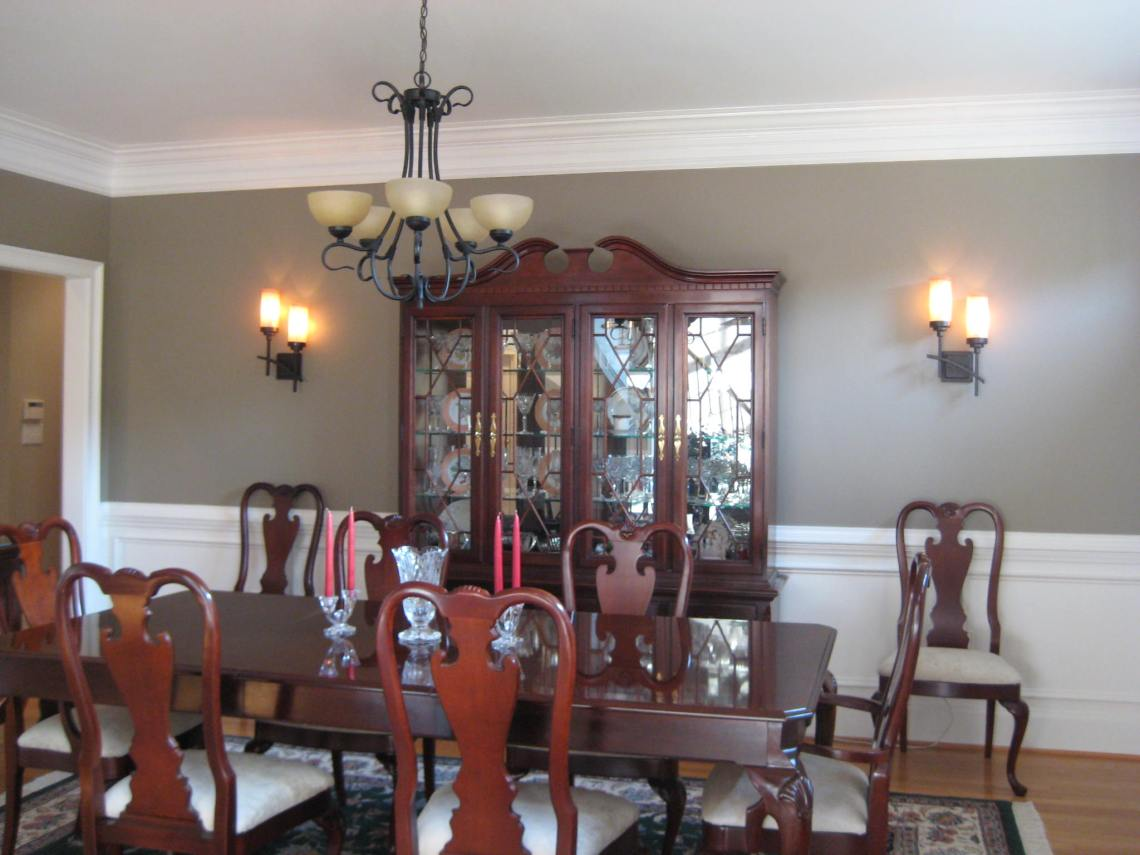 Sconces In Dining Room