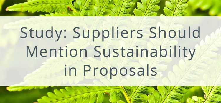 GMIC Study: Suppliers Should Mention Sustainability in Proposals