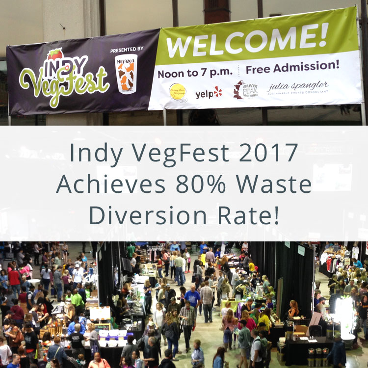 Welcome banner and VegFest crowd