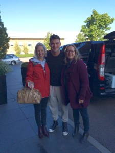Gema and friend meeting Aljaz (nope, not jealous, not one bit... )
