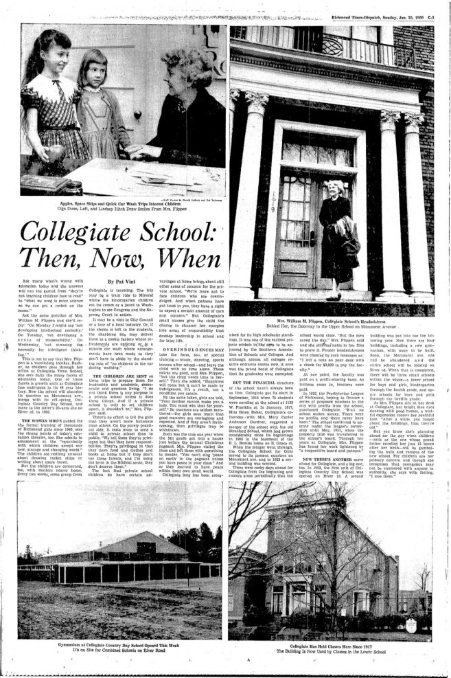 ""\""""Collegiate School: Then, Now, When"""" in the Richmond Times-Dispatch, January 25, 1959""657|987|?|en|2|6db2fa9c743f240c4d669f4801790e64|False|UNLIKELY|0.3622274696826935