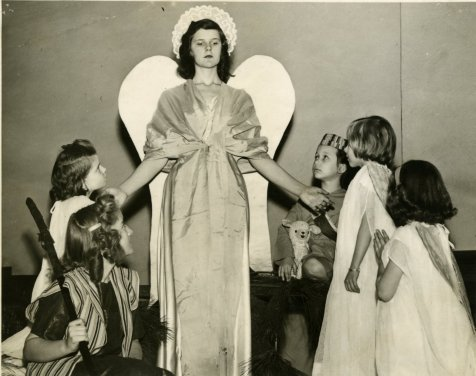 Annunciation Angel, Pageant, ca, 1940