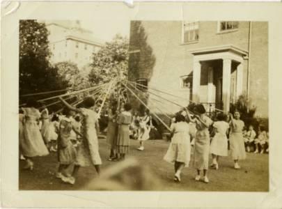 Maypole, May Day, 1935