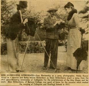 Reenacting 1917 Groundbreaking, May Day, 1951