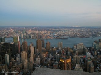 Overlooking the Hudson River in New York