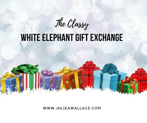 the classy white elephant gift exchange