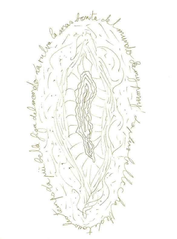 Dessin Vagine N°17 Exposition les Vulnérables Julie Barranger