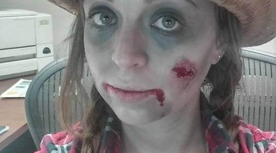 easy diy halloween costume zombie cowgirl
