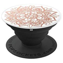 rose gold mandala popsockets
