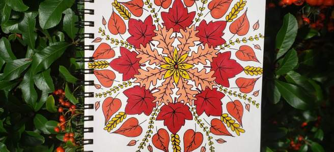mandalatober autumn fall mandala drawing
