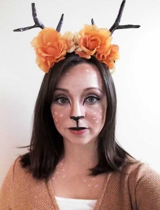 diy cute deer makeup easy costume