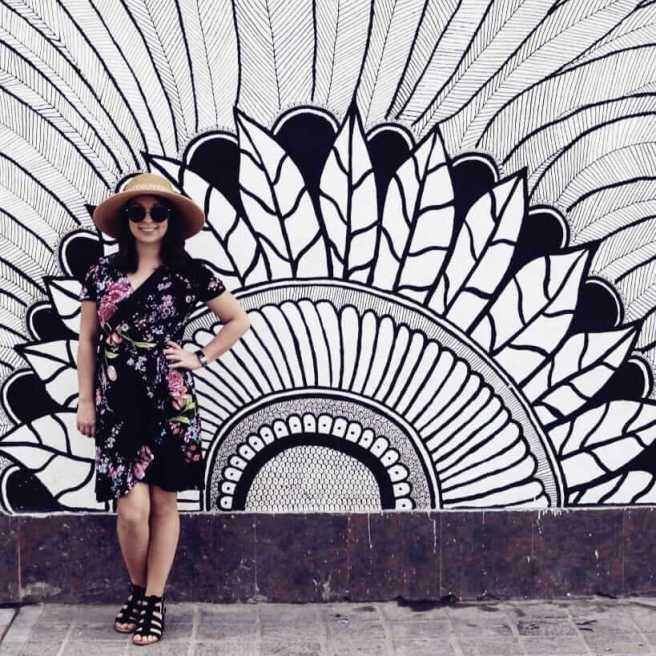 zona romantica old town puerto vallarta art woman posing