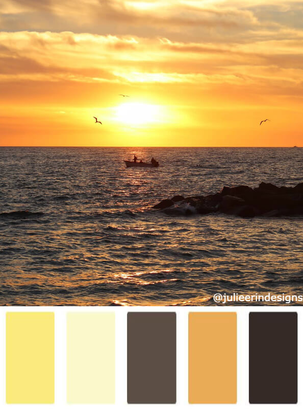 Sunset in Mexico colour scheme