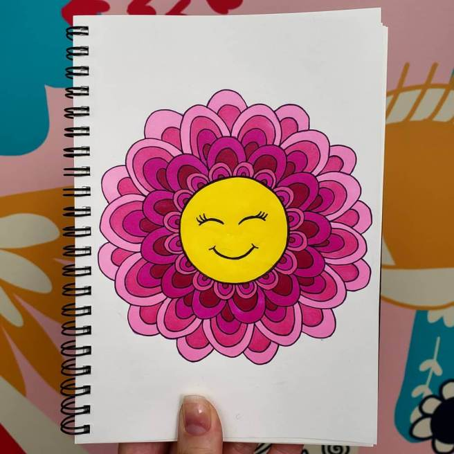 happy face emoji mandala mandalatober2019