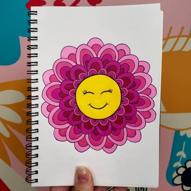 happy face emoji mandala mandalatober2019