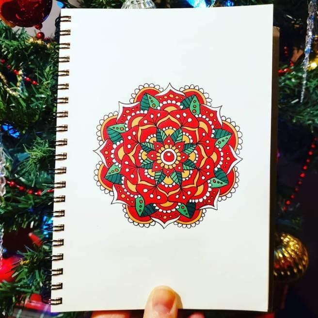 christmas mandala art drawing