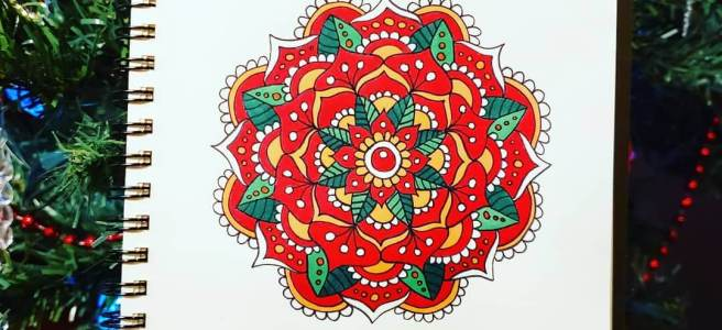 christmas mandala art drawing