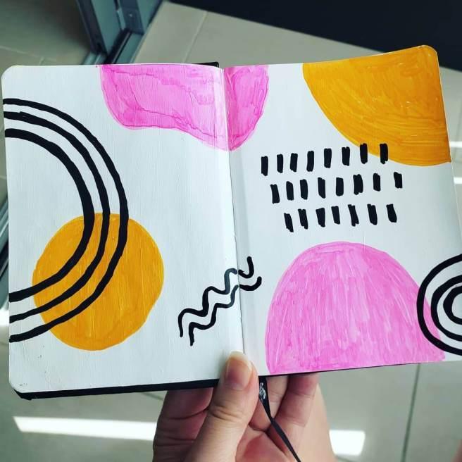 modern art journal page idea