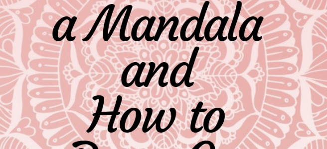 pink mandala how to draw mandalas