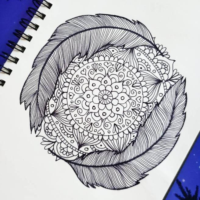 bird feather mandalas