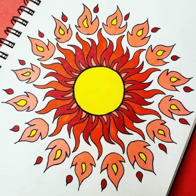 fire sun mandalas