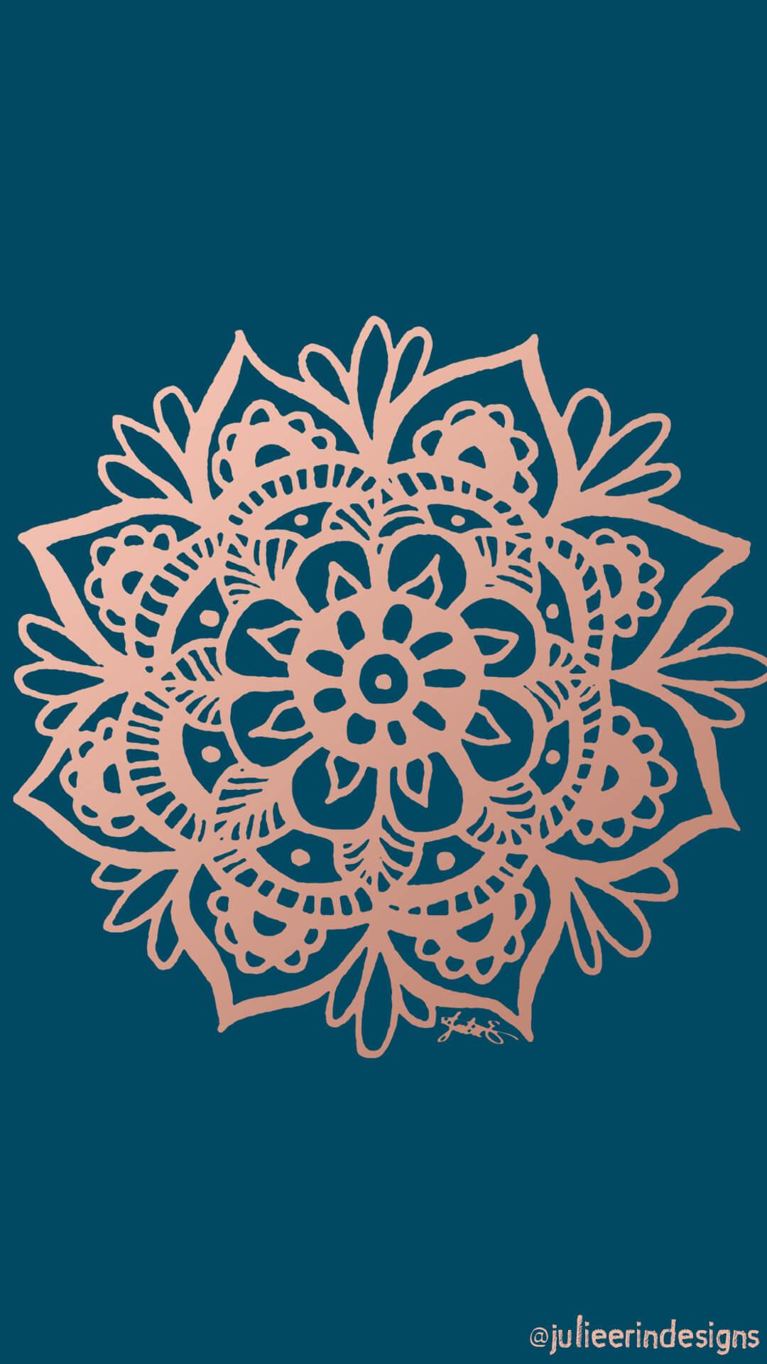 Free Phone Wallpaper Rose Gold Mandala Mandalas Julie Erin Designs