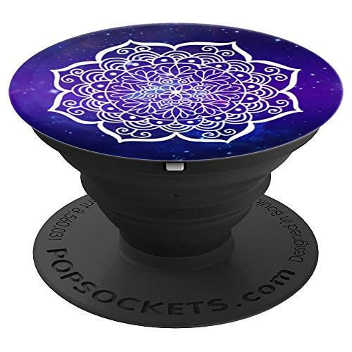 nebula space purple blue mandalas floral popsockets